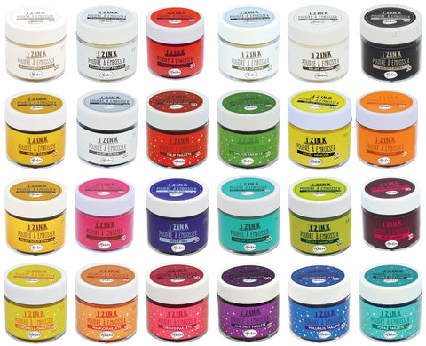 Aladine Assorted Colour 3D Izink Embossing Powder Scrapbooking Paper Crafts 25ml - Hobby & Crafts