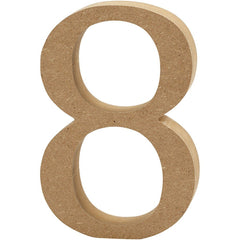 Large MDF Wooden Number 13 cm - Digit 8 - Hobby & Crafts