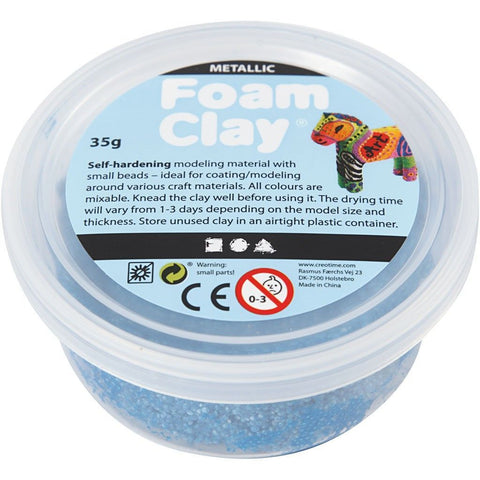 Metallic Blue Colour Small Bead Modelling Material With Plastic Tub 35 g - Hobby & Crafts