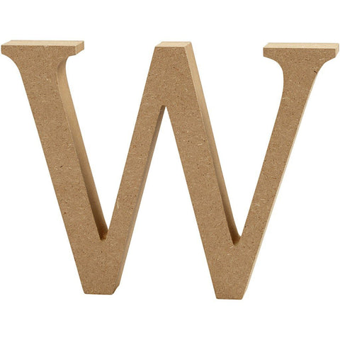 Large MDF Wooden Letter 13 cm - Initial W - Hobby & Crafts