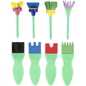 24 Assorted EVA Foam Brushes For Painting With Plastic Handle - Hobby & Crafts