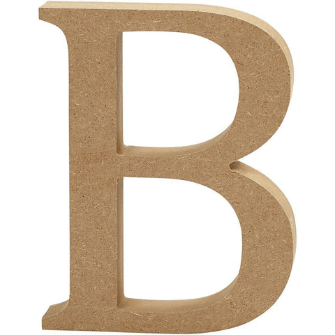 Large MDF Wooden Letter 8 cm - Initial B - Hobby & Crafts