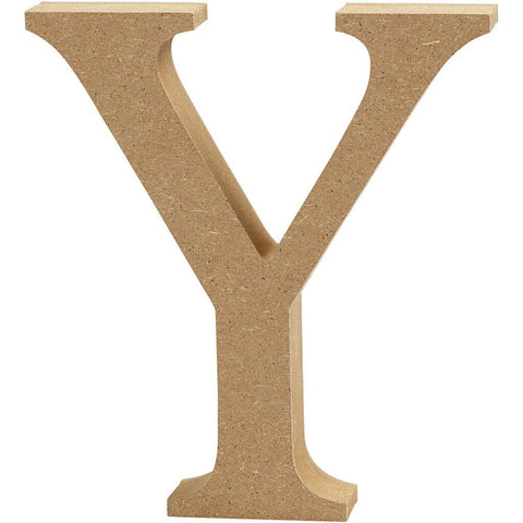 Large MDF Wooden Letter 13 cm - Initial Y - Hobby & Crafts