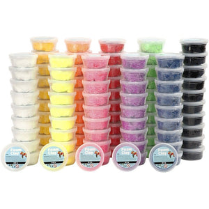10 x 10 Assorted Colour Small Bead Modelling Material With Plastic Tub - Hobby & Crafts