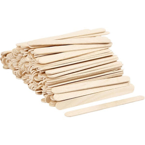 200 x Birch Wood Medium Lightweight Sticks For Ice Lolly Decoration Crafts 11.5 cm - Hobby & Crafts