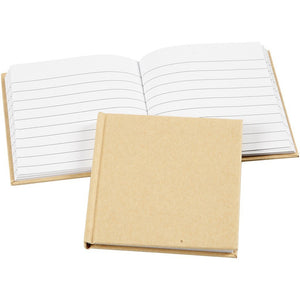 1 x Natural Notebook School Book Writing 80 Legal Ruled Sheets10x10cm Stationary - Hobby & Crafts