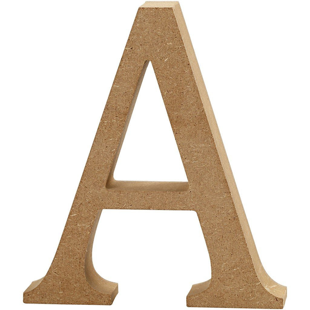 Large Mdf Wooden Letter 13 Cm Initial A