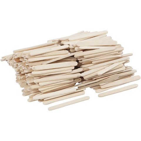 400 x Birch Wood Mini Lightweight Sticks For Ice Lolly Decoration Crafts 5.5 cm - Hobby & Crafts