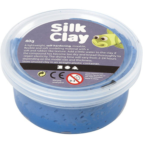 Blue Colour Pliable Lightweight Modelling Compound With Plastic Tub 40 g - Hobby & Crafts