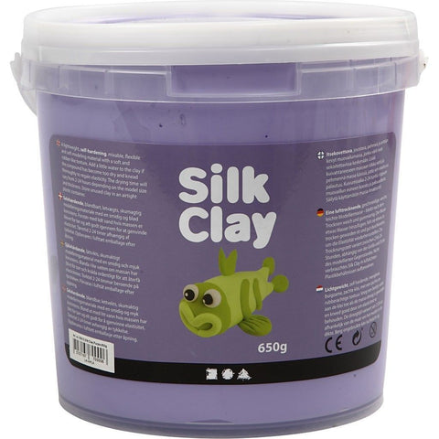 Purple Colour Pliable Lightweight Modelling Compound With Plastic Bucket 650 g - Hobby & Crafts