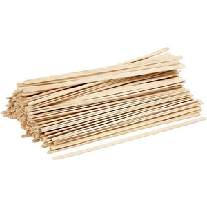 200 x Birch Wood Thin Long Sticks For Ice Lolly Decoration Crafts 19 cm - Hobby & Crafts