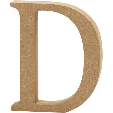 Large MDF Wooden Letter 8 cm - Initial D - Hobby & Crafts