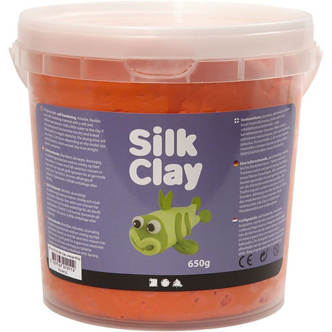Orange Colour Pliable Lightweight Modelling Compound With Plastic Bucket 650 g - Hobby & Crafts