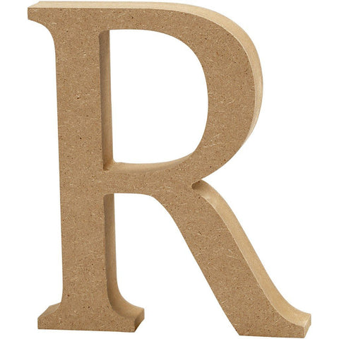 Large MDF Wooden Letter 8 cm - Initial R - Hobby & Crafts