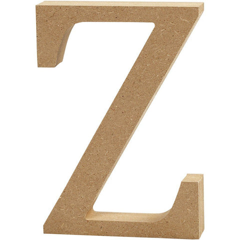Large MDF Wooden Letter 8 cm - Initial Z - Hobby & Crafts