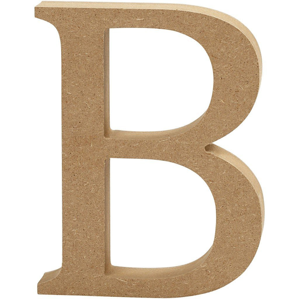 Large Mdf Wooden Letter 13 Cm Initial B