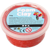 Red Colour Small Bead Modelling Material With Plastic Tub 35 g - Hobby & Crafts