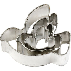 3 x Assorted Size Dove Shaped Metal Cookie Cutters Kitchen Accessories - Hobby & Crafts