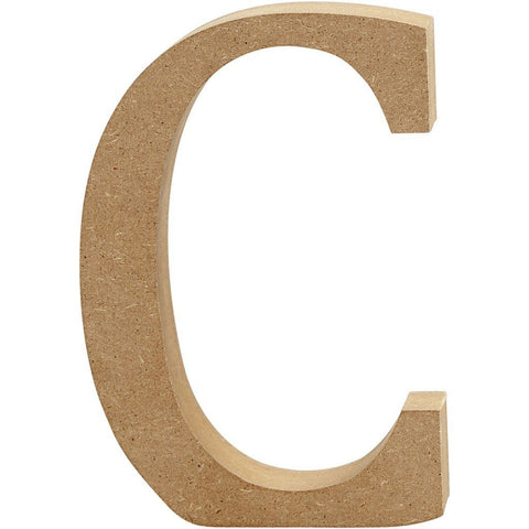 Large MDF Wooden Letter 8 cm - Initial C - Hobby & Crafts