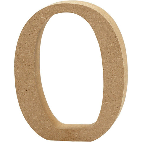 Large MDF Wooden Number 8 cm - Digit 0 - Hobby & Crafts
