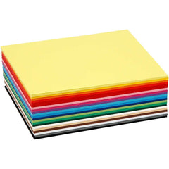 120 x A6 Card Stock Assorted 5 Colours Making Scrapbooking Craft Premium 180g - Hobby & Crafts