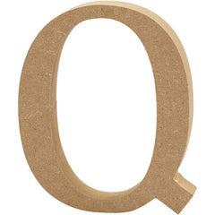Large MDF Wooden Letter 8 cm - Initial Q - Hobby & Crafts