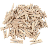 Birch Wooden Mini Clothes Pegs Utility Items Size 25 mm x 3 mm - Hobby & Crafts