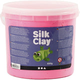 Pink Colour Pliable Lightweight Modelling Compound With Plastic Bucket 650 g - Hobby & Crafts