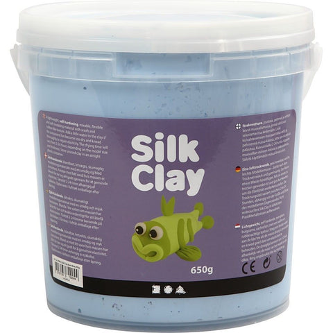 Neon Blue Colour Pliable Lightweight Modelling Compound With Plastic Bucket 650 g - Hobby & Crafts