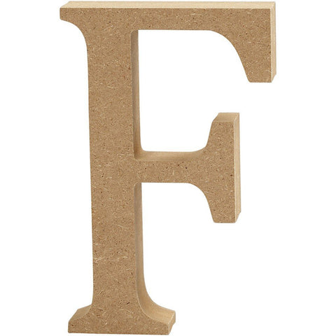 Large MDF Wooden Letter 13 cm - Initial F - Hobby & Crafts