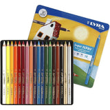 18 x Lyra Super Ferby Triangular Shaped Assorted Colour Pencils 18 cm - Hobby & Crafts