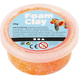 Neon Orange Colour Small Bead Modelling Material With Plastic Tub 35 g - Hobby & Crafts