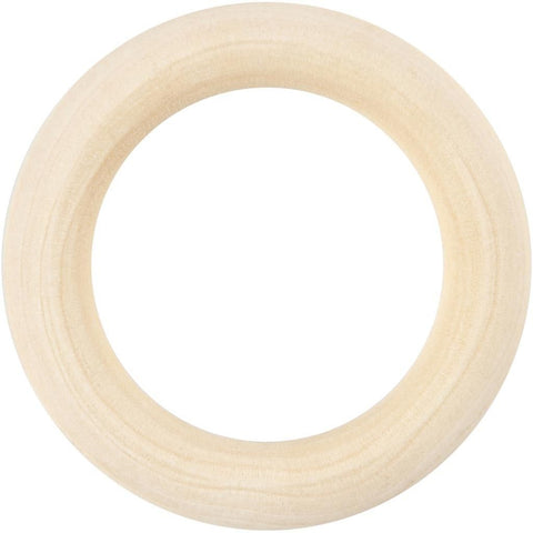 Grass Wood Curtain Ring Wooden Utility Items 55 mm 6Pcs - Hobby & Crafts