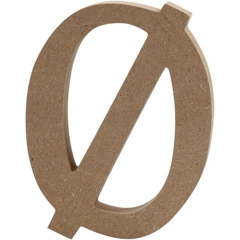 Large MDF Wooden Letter 8 cm - Initial O with macron - Hobby & Crafts