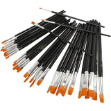 36 Assorted YellowLine Brushes For Painting With Lacquered Handle - Hobby & Crafts
