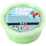 Neon Green Colour Small Bead Modelling Material With Plastic Tub 35 g - Hobby & Crafts