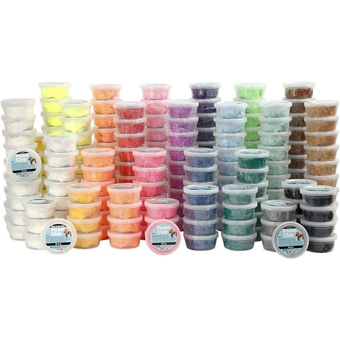 10 x 22 Assorted Colour Small Bead Modelling Material With Plastic Tub - Hobby & Crafts