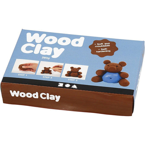 Brown Colour Mouldable Modelling Clay Material With Wood Powder 280 g - Hobby & Crafts