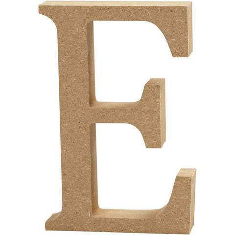 Large MDF Wooden Letter 8 cm - Initial E - Hobby & Crafts