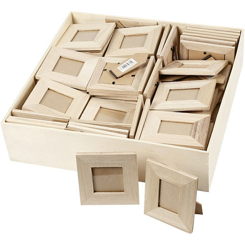 80 x Empress Wood Frames Assorted Size With Glass For Photos Pictures Decoration - Hobby & Crafts