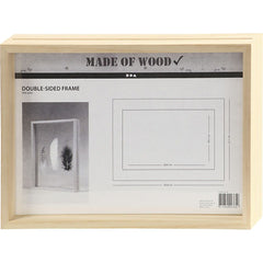 Double Sided Pine Wood A4 Frame With Glass For Photos Pictures Home Decoration - Hobby & Crafts