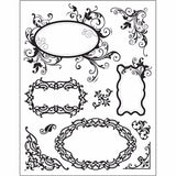 Transparent Silicone Stamp 18cm x 14cm Re-usable - Frames - Hobby & Crafts