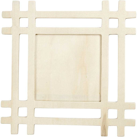 20 x Plywood Square Shaped Frame For Photos Pictures Decoration 17 cm - Hobby & Crafts