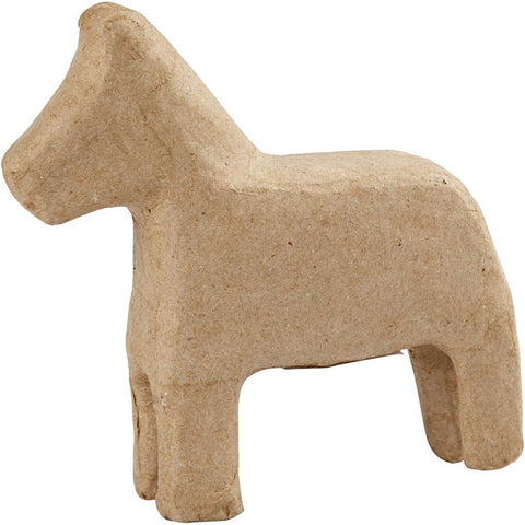 14cm Horse Animal Shaped Craft Paper Mache Make Your Own Decoration - Hobby & Crafts
