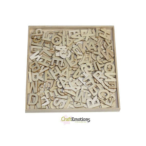 Wooden Ornament Decorations Embellishments Toppers Large Size Basic Alphabets - Hobby & Crafts