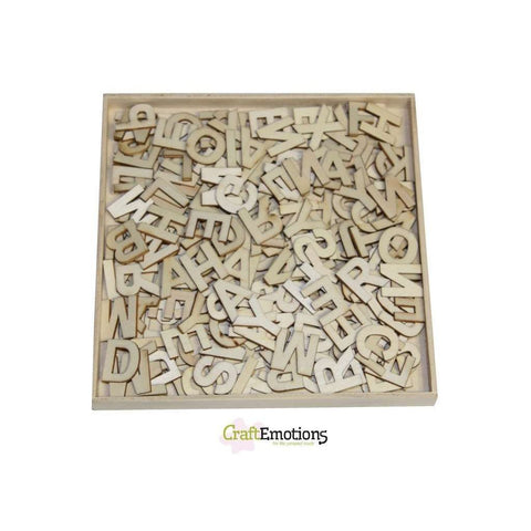 Wooden Ornament Decorations Embellishments Toppers Small Size Basic Alphabet - Hobby & Crafts