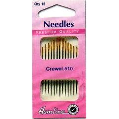 Hemline Gold Eyed Needles - Crewel 5-10 - Hobby & Crafts