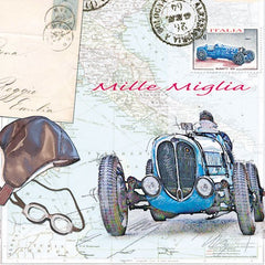 5 Napkins Mille Miglia 33 x 33 cm Tissue Decoupage Paper Party Craft - Hobby & Crafts