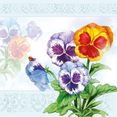 5 Napkins Aquarell Pansy 33 x 33 cm Tissue Decoupage Paper Party Craft - Hobby & Crafts