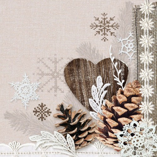 5 Napkins Winter Nature 33 x 33 cm Tissue Decoupage Paper Party Craft - Hobby & Crafts